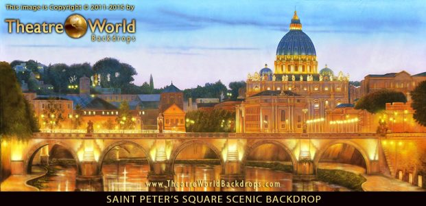 Professional Saint Peter's Square Scenic Backdrop