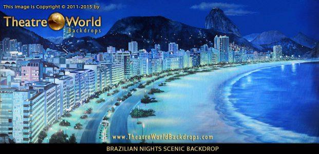 Professional Scenic Backdrop Brazilian Nights