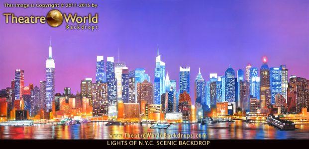 Professional New York City Skyline Scenic Backdrop