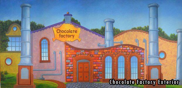 2015-2016 Seasons - Chocolate Factory Exterior Professional Scenic Backdrop