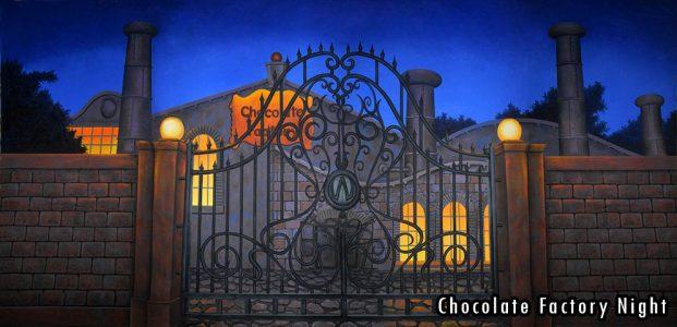2015-2016 Seasons - Chocolate Factory Night Professional Scenic Backdrop