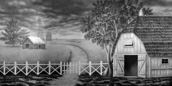 The Wizard of Oz Farm Backdrop