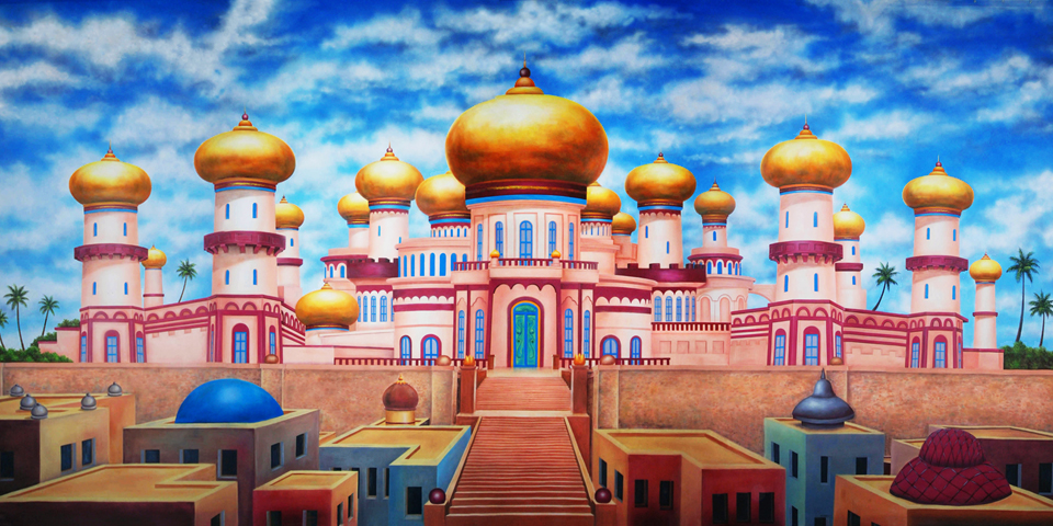 Aladdin Agrabah Palace Exterior Scenic Backdrop