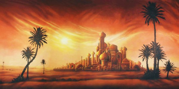 Aladdin's Desert Palace Professional Scenic Backdrop