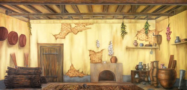 Aladdin Ancient Cottage Interior Professional Scenic Backdrop