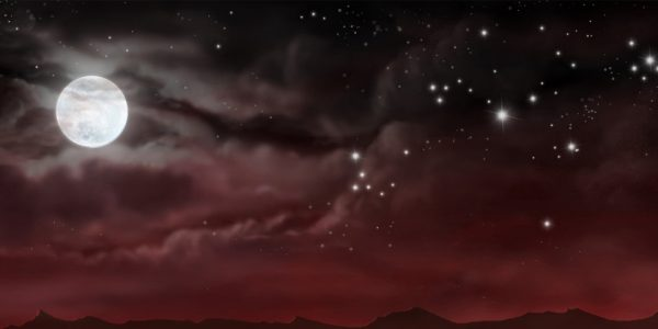 Aladdin Desert Night Professional Scenic Backdrop