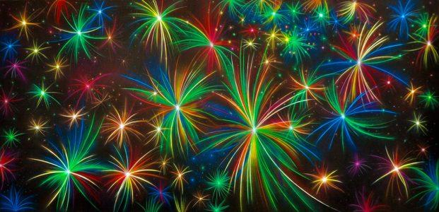 Aladdin Fireworks Professional Scenic Backdrop