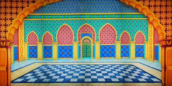 Aladdin Sultan's Palace Interior Professional Scenic Backdrop