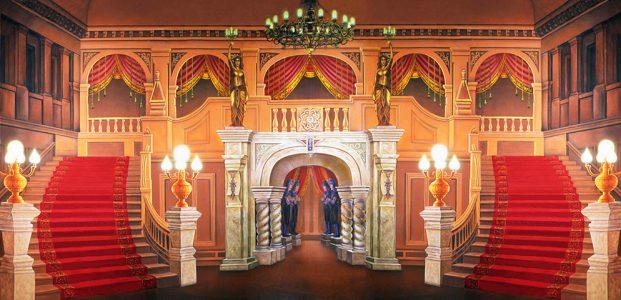 Professional Majestic Mansion Foyer Scenic Backdrop