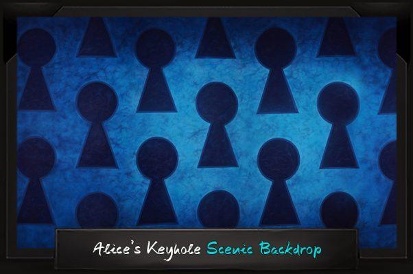 Professional Alice in Wonderland Alice's Keyhole Scenic Backdrop