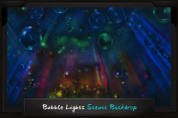Professional Alice in Wonderland Bubble Lights Scenic Backdrop