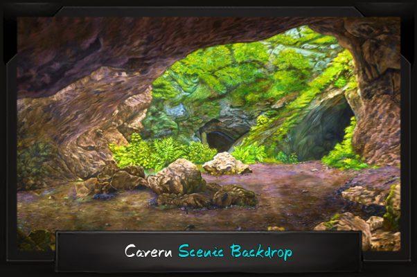 Professional Alice in Wonderland Cavern Scenic Backdrop
