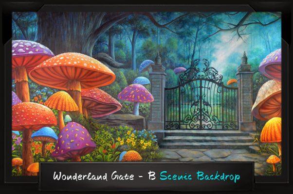 Professional Alice in Wonderland Wonderland Gate - B Scenic Backdrop