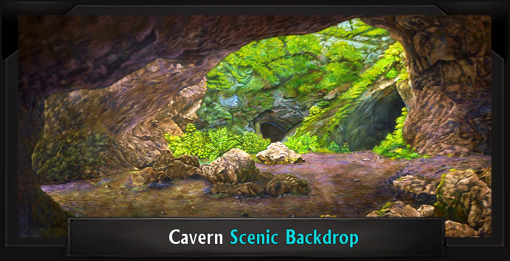 The Lion King Cavern Professional Scenic Backdrop