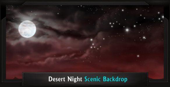 The Lion King Desert Night Professional Scenic Backdrop