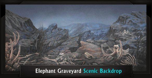 The Lion King Elephant Graveyard Professional Scenic Backdrop