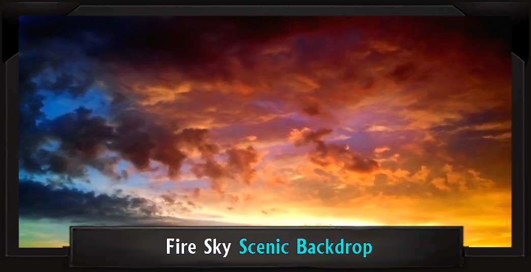 The Lion King Fire Sky Professional Scenic Backdrop
