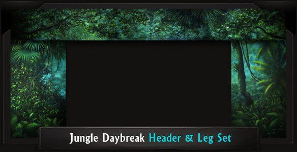 The Lion King Jungle Daybreak Professional Scenic Header and Leg Set