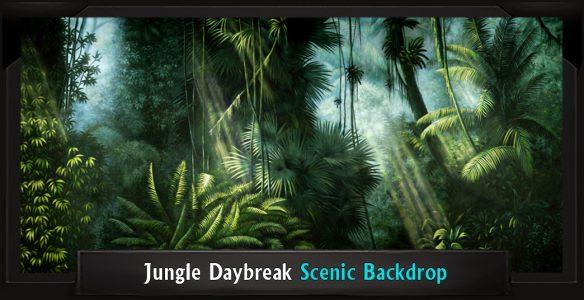 The Lion King Jungle Daybreak Professional Scenic Backdrop