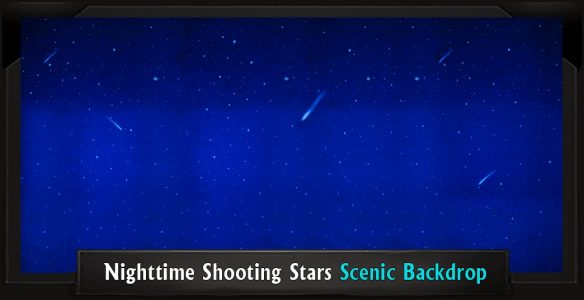 Addams Family Nighttime Shooting Stars Professional Scenic Backdrops