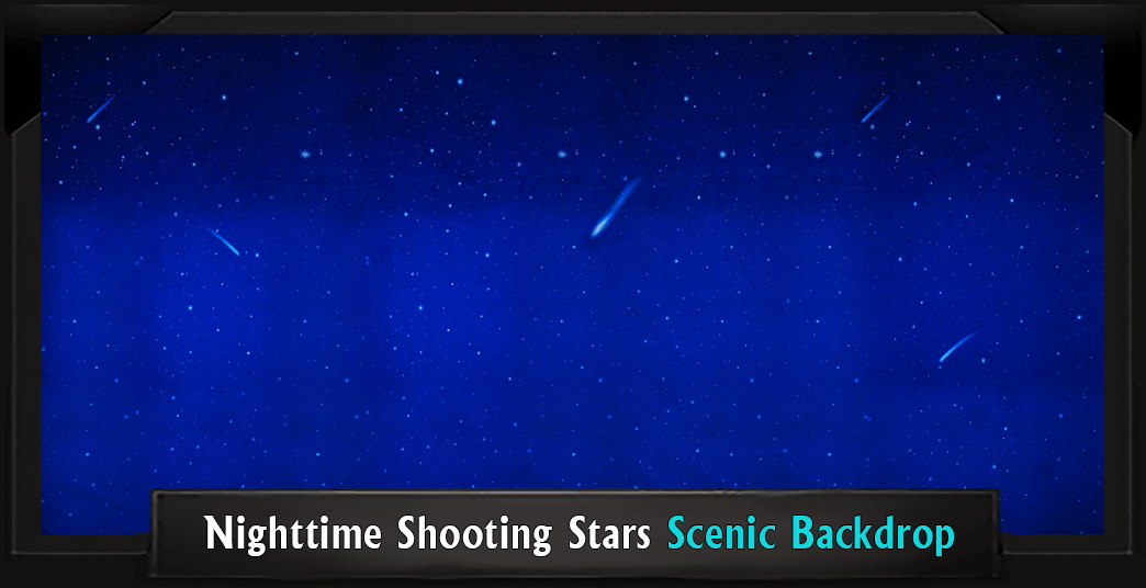 The Lion King Nighttime Shooting Stars Professional Scenic Backdrops