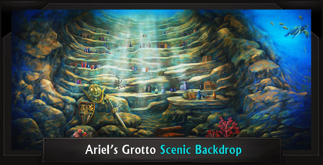Ariel's Grotto Professional Scenic Little Mermaid Backdrop
