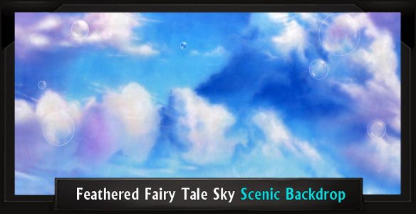 Feathered Fairy Tale Sky Professional Scenic Shrek Backdrop