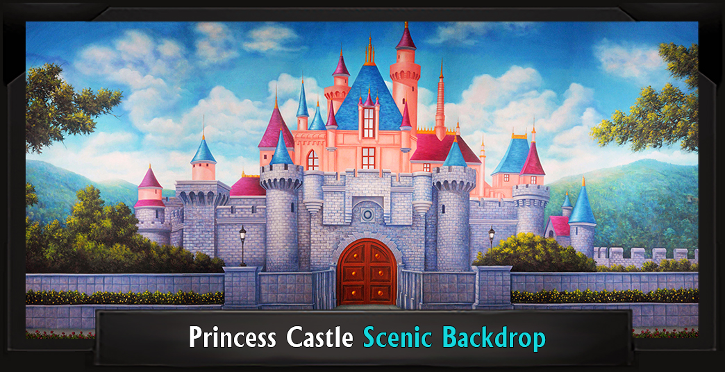 PRINCESS CASTLE Professional Scenic Shrek Backdrop