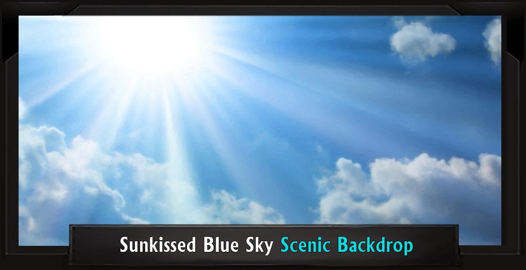 SUNKISSED BLUE SKY Professional Scenic Shrek Backdrop