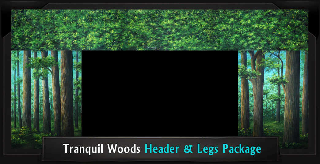 TRANQUIL WOODS Professional Scenic Header and Legs Set, Shrek