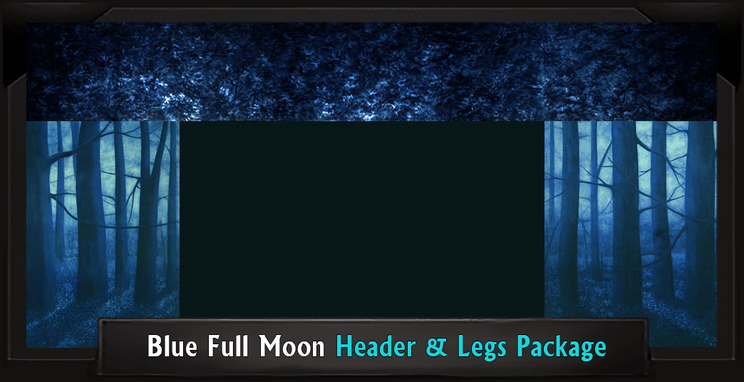 Blue Full Moon Professional Scenic Addams Family Head and Legs Set
