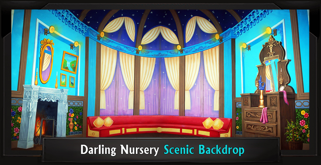 Darling Nursery Professional Scenic Mary Poppins Backdrop