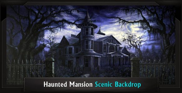 Haunted Mansion Professional Scenic Addams Family Backdrop