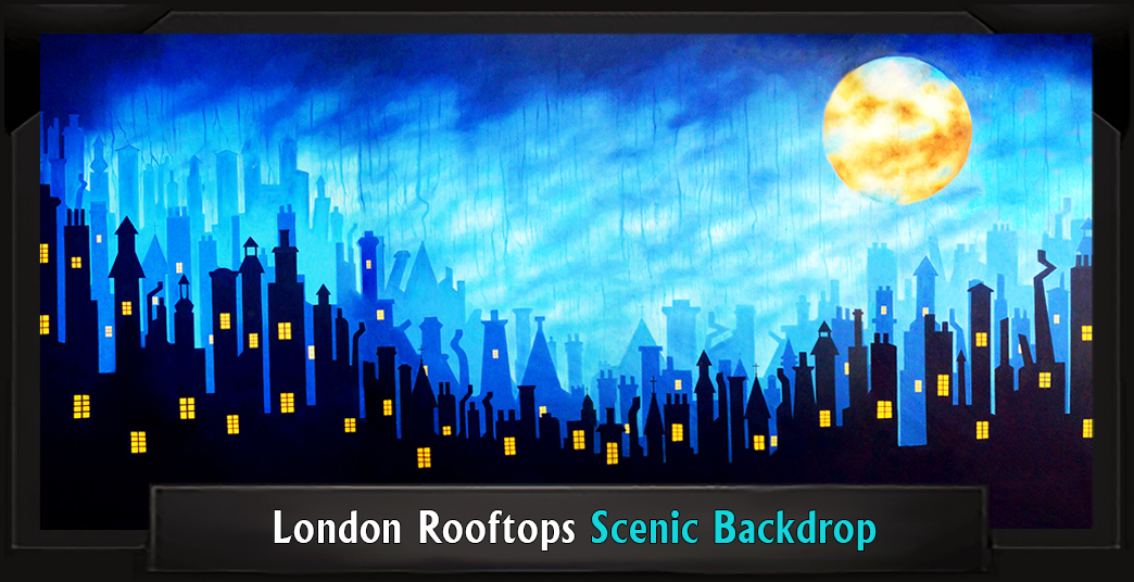London Rooftops Professional Scenic Mary Poppins Backdrop