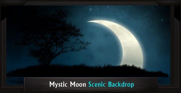 Mystic Moon Professional Scenic Addams Family Backdrop
