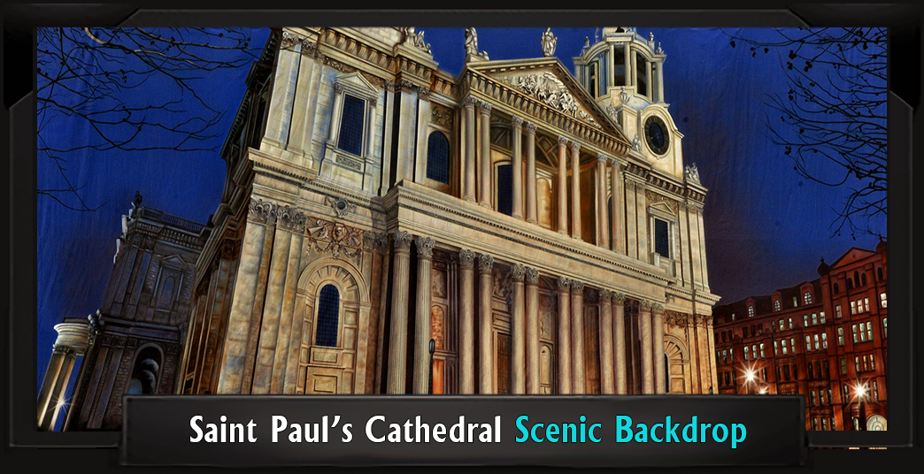 Saint Paul's Cathedral Professional Scenic Mary Poppins Backdrop