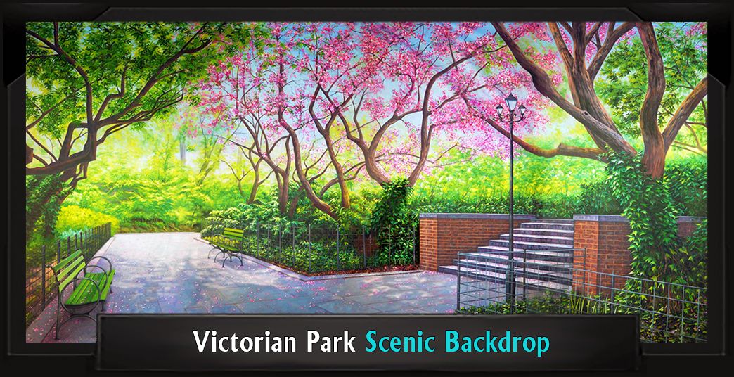 Victorian Park Professional Scenic Mary Poppins Backdrop