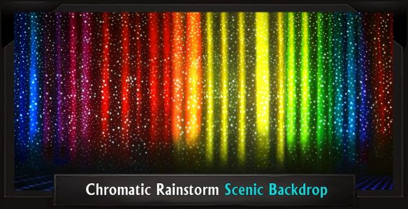 Chromatic Rainstorm Dreamgirls Professional Scenic Backdrop