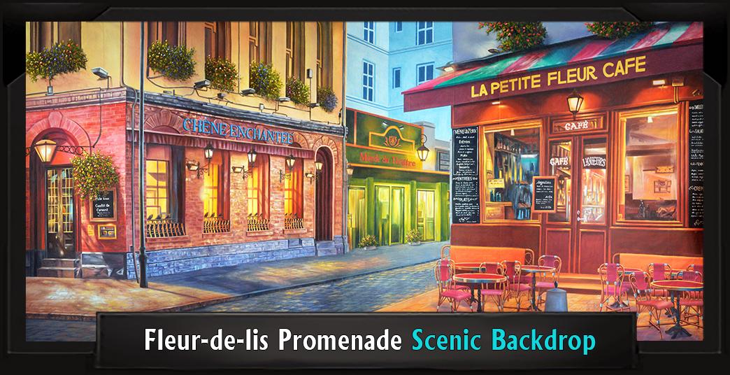 Legally Blonde Musical FLEUR-DE-LIS PROMENADE Professional Scenic Backdrop