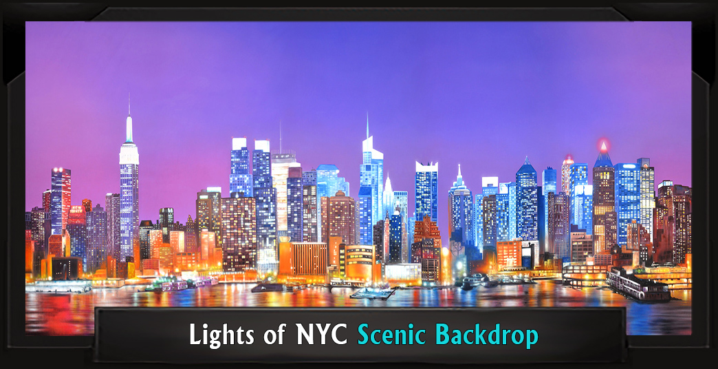 LIGHTS OF NYC Professional Scenic Elf Musical Backdrop