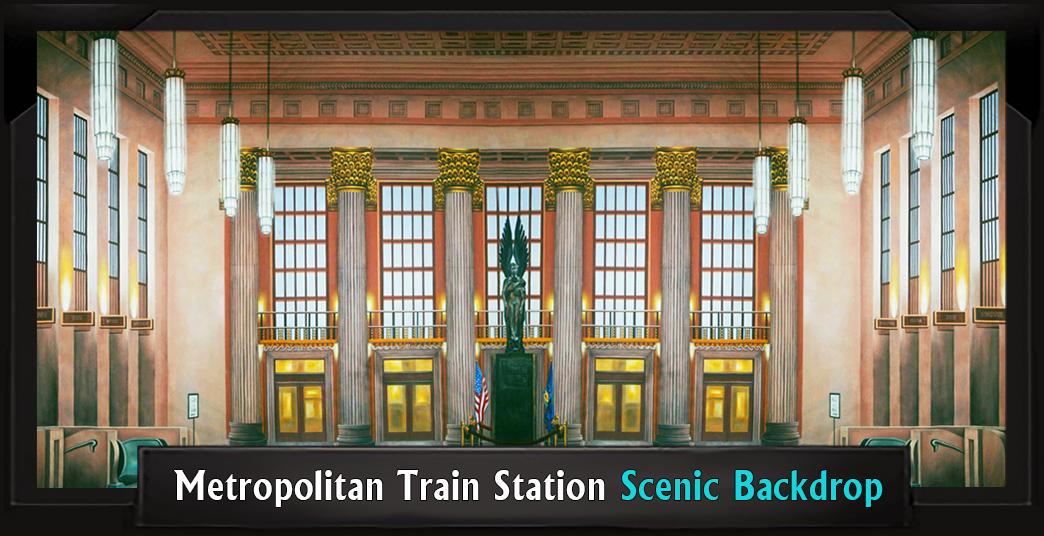 METROPOLITAN TRAIN STATION Professional Scenic Elf Musical Backdrop