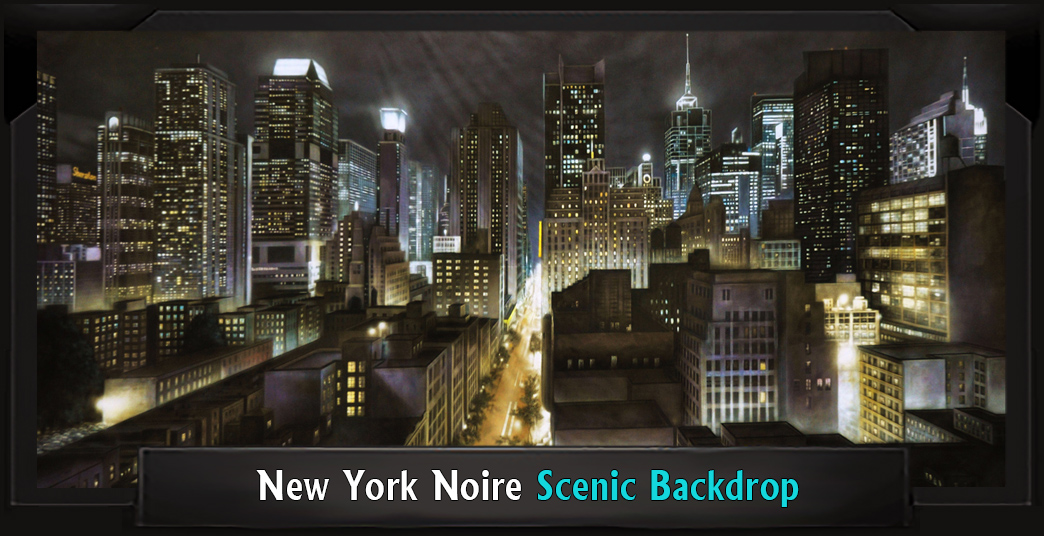 NEW YORK NOIRE Professional Scenic Elf Musical Backdrop