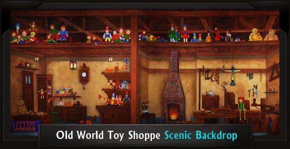 OLD WORLD TOY SHOPPE Professional Scenic Elf Backdrop