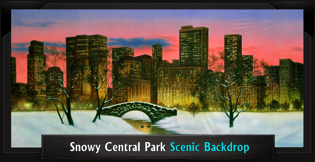 SNOWY CENTRAL PARK Professional Scenic Elf Musical Backdrop
