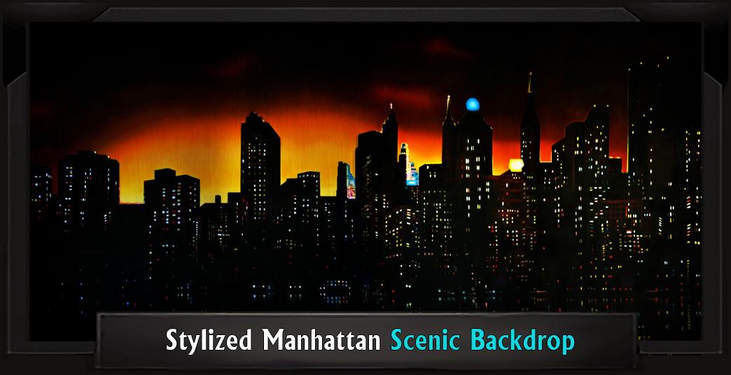 STYLIZED MANHATTAN Professional Scenic Elf Musical Backdrop