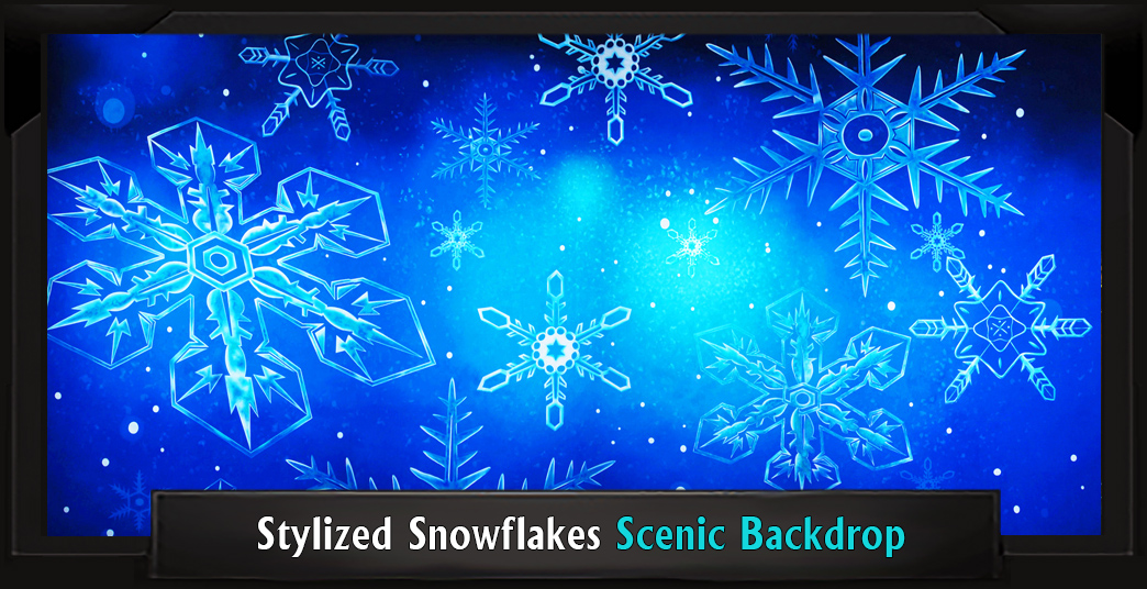 STYLIZED SNOWFLAKES Professional Scenic Elf Musical Backdrop