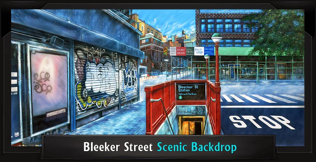 BLEEKER STREET Professional Scenic Little Shop of Horrors Backdrop