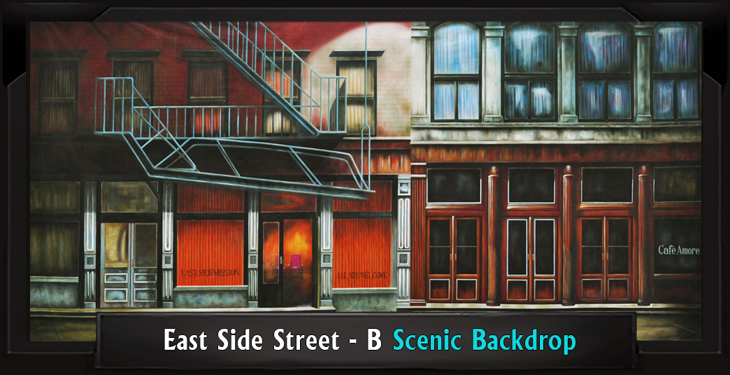 East Side Street - B Professional Scenic Backdrop