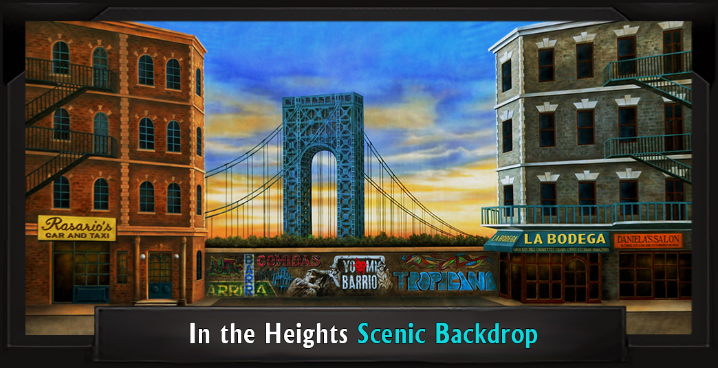IN THE HEIGHTS Professional Scenic Little Shop of Horrors Backdrop