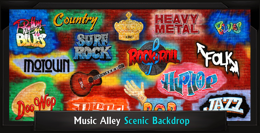 Music Alley Professional Scenic Grease Backdrop